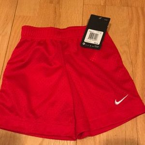 Nike Boys Mesh Athlete shorts 3-T Red NWT